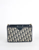 Christian Dior Vintage Navy Blue Monogram Clutch Bag - Amarcord Vintage Fashion  - 2