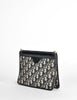 Christian Dior Vintage Navy Blue Monogram Clutch Bag - Amarcord Vintage Fashion  - 3