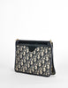 Christian Dior Vintage Navy Blue Monogram Clutch Bag - Amarcord Vintage Fashion  - 5