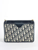 Christian Dior Vintage Navy Blue Monogram Clutch Bag - Amarcord Vintage Fashion  - 4
