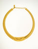 Christian Dior Gold Omega Choker Necklace - Amarcord Vintage Fashion  - 3