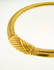 Christian Dior Gold Omega Choker Necklace - Amarcord Vintage Fashion  - 2