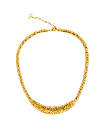 Christian Dior Vintage Gold Swirl Necklace
