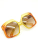 Christian Dior Vintage 1970s Yellow & Orange Ombre Sunglasses 2006 - Amarcord Vintage Fashion  - 9