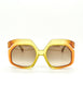 Christian Dior Vintage 1970s Yellow & Orange Ombre Sunglasses 2006 - Amarcord Vintage Fashion  - 2
