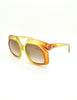 Christian Dior Vintage 1970s Yellow & Orange Ombre Sunglasses 2006 - Amarcord Vintage Fashion  - 3