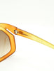 Christian Dior Vintage 1970s Yellow & Orange Ombre Sunglasses 2006 - Amarcord Vintage Fashion  - 8