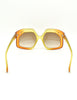 Christian Dior Vintage 1970s Yellow & Orange Ombre Sunglasses 2006 - Amarcord Vintage Fashion  - 10