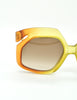 Christian Dior Vintage 1970s Yellow & Orange Ombre Sunglasses 2006 - Amarcord Vintage Fashion  - 4