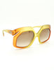 Christian Dior Vintage 1970s Yellow & Orange Ombre Sunglasses 2006 - Amarcord Vintage Fashion  - 5