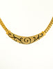 Christian Dior Vintage Black & Gold Rhinestone Enamel Necklace - Amarcord Vintage Fashion  - 3