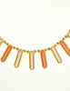 Christian Dior Vintage Gold Copper Silver Fringe Necklace