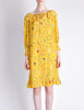 Ungaro Vintage 1970s Bright Yellow Carnival Bubble Print Dress - Amarcord Vintage Fashion  - 4
