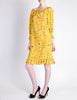 Ungaro Vintage 1970s Bright Yellow Carnival Bubble Print Dress - Amarcord Vintage Fashion  - 3