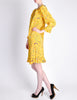 Ungaro Vintage 1970s Bright Yellow Carnival Bubble Print Dress - Amarcord Vintage Fashion  - 5