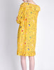 Ungaro Vintage 1970s Bright Yellow Carnival Bubble Print Dress - Amarcord Vintage Fashion  - 6
