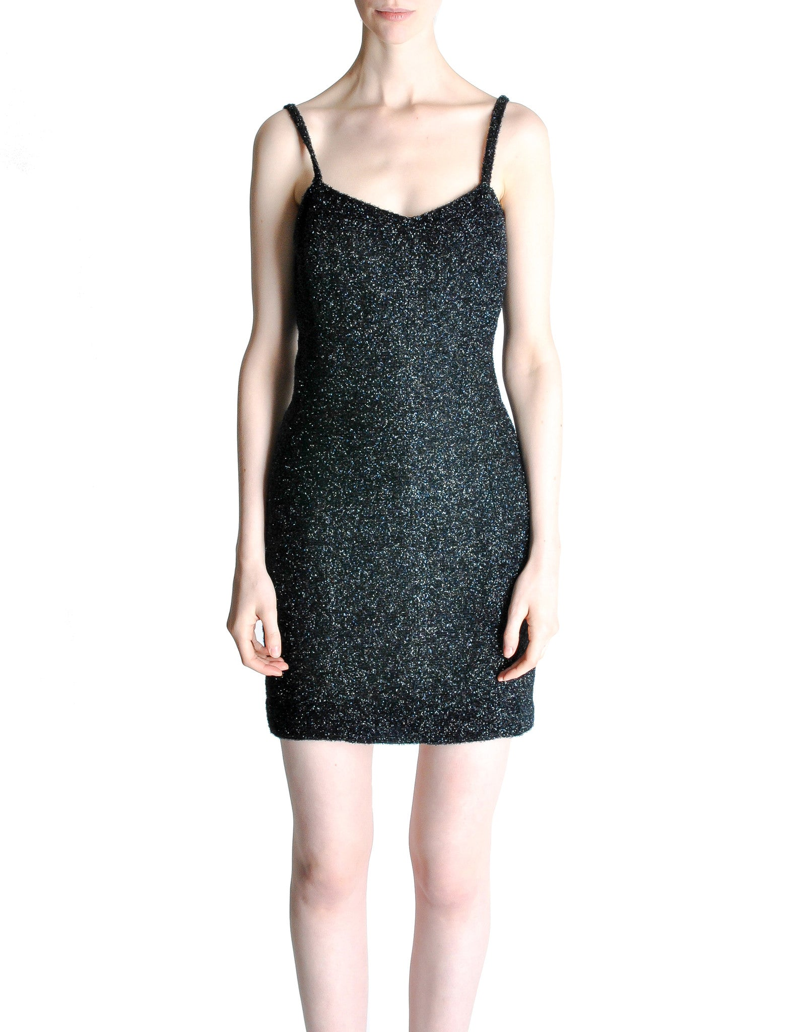 Emporio Armani Vintage Little Black Dress - Amarcord Vintage Fashion  - 1