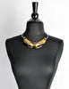 Franco Bastianelli for Laurana Vintage Gold & Black Enamel Hawk Necklace - Amarcord Vintage Fashion  - 5