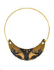 Franco Bastianelli for Laurana Vintage Gold & Black Enamel Hawk Necklace - Amarcord Vintage Fashion  - 2