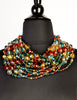 Escada Vintage Multicolor Multistrand Statement Choker Necklace - Amarcord Vintage Fashion  - 2