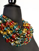Escada Vintage Multicolor Multistrand Statement Choker Necklace - Amarcord Vintage Fashion  - 5