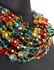 Escada Vintage Multicolor Multistrand Statement Choker Necklace - Amarcord Vintage Fashion  - 7