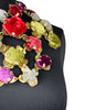 Etro Fall 2006 Massive Brass and Multicolor Velvet Bib Necklace