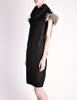 Fendi Vintage Black Wool Funnel Neck Mohair Tunic Dress - Amarcord Vintage Fashion  - 4