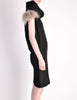 Fendi Vintage Black Wool Funnel Neck Mohair Tunic Dress - Amarcord Vintage Fashion  - 5