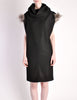 Fendi Vintage Black Wool Funnel Neck Mohair Tunic Dress - Amarcord Vintage Fashion  - 2