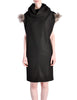 Fendi Vintage Black Wool Funnel Neck Mohair Tunic Dress - Amarcord Vintage Fashion  - 1