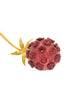 Fabrice Vintage Purple Red Brass Dandelion Flower Brooch Pin