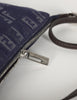 Fendi Vintage Blue Denim Monogram Logo Zucchino Crossbody Bag