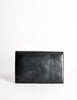 Fendi Vintage Black and Brown Leather Clutch Purse - Amarcord Vintage Fashion  - 4