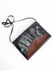 Fendi Vintage Black and Brown Leather Clutch Purse - Amarcord Vintage Fashion  - 2