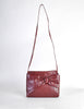 Fendi Vintage Burgundy Leather Bow Front Bag - Amarcord Vintage Fashion  - 2