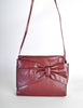 Fendi Vintage Burgundy Leather Bow Front Bag - Amarcord Vintage Fashion  - 5