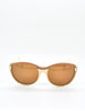 Fendi Vintage Brown and Cream Sunglasses 140 - Amarcord Vintage Fashion  - 2