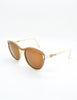 Fendi Vintage Brown and Cream Sunglasses 140 - Amarcord Vintage Fashion  - 3