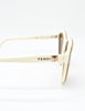 Fendi Vintage Brown and Cream Sunglasses 140 - Amarcord Vintage Fashion  - 5
