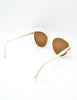 Fendi Vintage Brown and Cream Sunglasses 140 - Amarcord Vintage Fashion  - 6