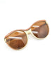 Fendi Vintage Brown and Cream Sunglasses 140 - Amarcord Vintage Fashion  - 4