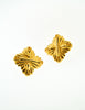 Fendi Vintage Gold Maltese Cross Earrings - Amarcord Vintage Fashion  - 2