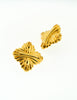 Fendi Vintage Gold Maltese Cross Earrings - Amarcord Vintage Fashion  - 3