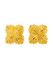 Fendi Vintage Gold Maltese Cross Earrings - Amarcord Vintage Fashion  - 1