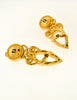 Fendi Vintage Gold Vase Dangle Earrings - Amarcord Vintage Fashion  - 3