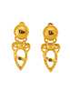 Fendi Vintage Gold Vase Dangle Earrings - Amarcord Vintage Fashion  - 1