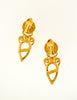 Fendi Vintage Gold Vase Dangle Earrings - Amarcord Vintage Fashion  - 5