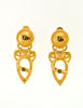 Fendi Vintage Gold Vase Dangle Earrings - Amarcord Vintage Fashion  - 2