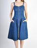 Fendi Vintage Blue Denim Jean Dress - Amarcord Vintage Fashion  - 5
